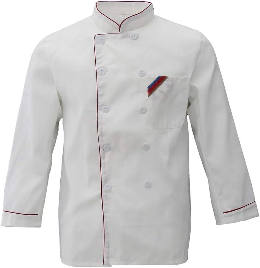Almencla Manteau De Cuisine Unisexe Pour Cuisinier /à Manches Longues Et Cuisine