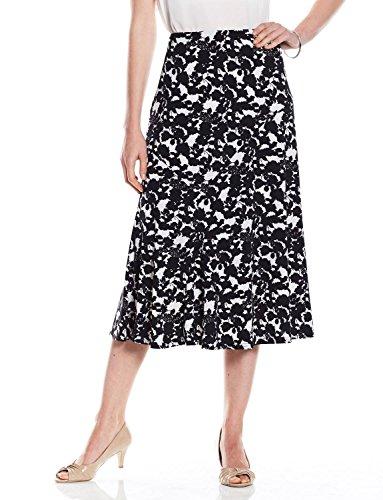 Noir Ë Pour Jupe Arrondies Femme Amber Coutures p71qfxxA