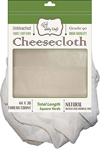 (Cheesecloth Unbleached 54 Sq Feet / 6 Sq Yards Grade 90 Filter Butter Muslin Quality for Strainer and Bags)