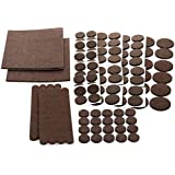 Floor Effects Felt Pads, Heavy Duty Adhesive Furniture Pads - Floor Protector for Tiled, Laminate, Wood Flooring - 123 Pieces Floor Protectors, Felt Chair Pads, Hardwood Floor Protector of Various Sizes Included