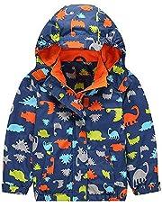 G-Kids Waterdichte jas voor kinderen, overgangsjas, warm fleece, waterdicht, winddicht, wandeljas, outdoorjas, regenjas met capuchon