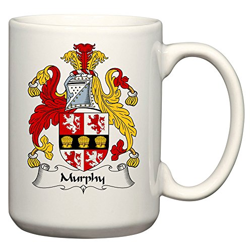 (Murphy Coat of Arms/Murphy Family Crest 15 Oz Ceramic Coffee/Cocoa Mug by Carpe Diem Designs, Made in the U.S.A.)