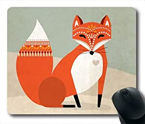 Red Fox Oblong Shaped Mouse Mat by Maris's Diary