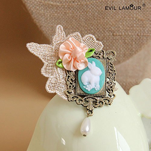 Hand complex Gulei Si flowers rabbit pearl brooch hat bag hanging ornaments ()