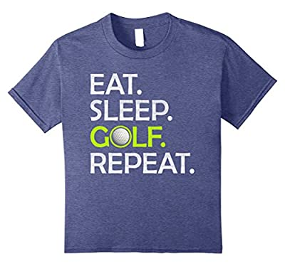 Eat Sleep Golf Repeat - Funny Golfing Golfer T-Shirt