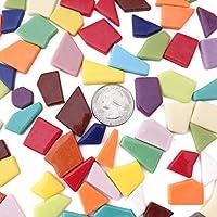 Mosaic Frame Mosaic kit 640 Pieces 568g Cheap Rainbow Color Crystal Mosaic Supplies E-Home Shop 20oz Mosaic Chips for Mosaic Crafts Bulk