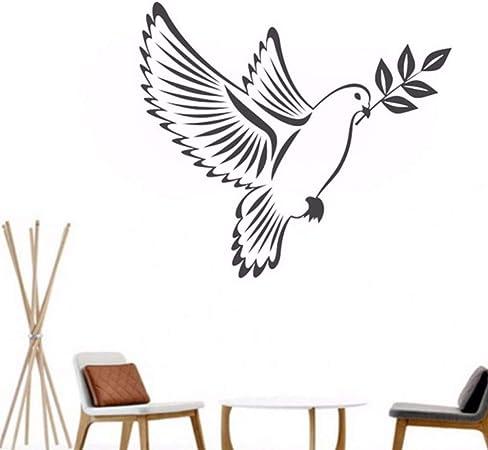 Pbldb 47X42 Cm Pájaros De La Paz De Vinilo Pegatinas De Pared De ...
