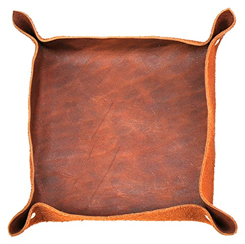 MonogramOnline RL4419-S-Light Brown Genuine Leather Stash Tray,Light (Leather Stash Tray)