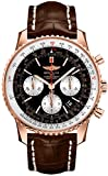 Breitling Navitimer 01 43 Rose Gold Men's Watch on Brown Strap RB012012/BA49-739P