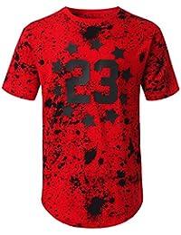 Mens Hipster Hip Hop Graphic Print Crewneck T-Shirt (Various Prints)