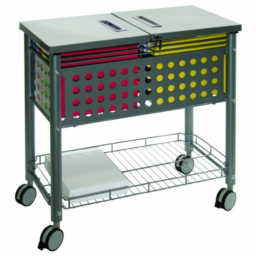 - Vertiflex File Mobile Cart with Locking Lid, 29.125 x 14 x 28.375 Inches, Matte Gray (VF52001)