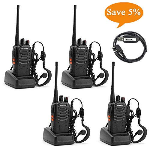 Ksun BF-888S Emergency Communication Radio 4pcs Walkie Talki