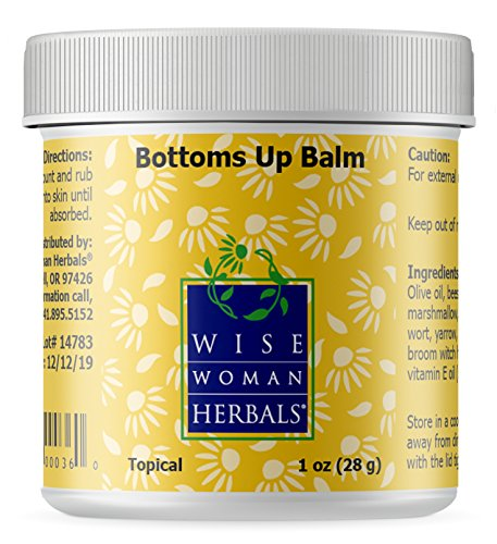 Wise Woman Herbals – Bottoms Up Balm – 1 Oz – Soothing Ointment for Anal Irritation, Reduces Swelling, Aids in Discomfort of Itching and Burning -