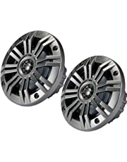 """Pair of Kicker 41KM654CW 6.5"""" 2-Way Coaxial 4-Ohm Marine/Boat Speakers with 3/4 Inch Titanium Waterproof Tweeters - 95 Watts Peak/65 Watts RMS Each Speaker / 390 Watts Peak/130 Watts RMS Per Pair"""