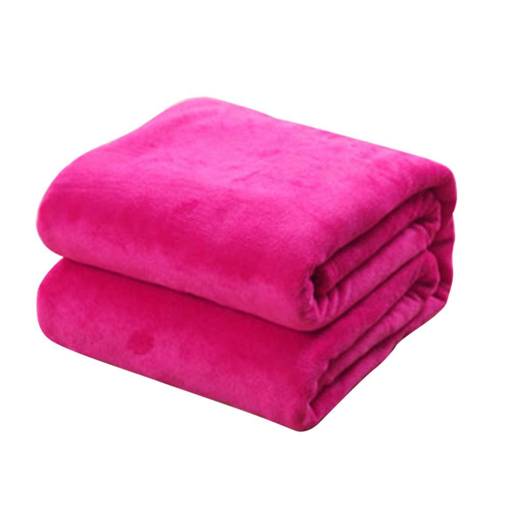 Shuda 1 Pc Couverture Polaire bébé Couverture pour Animaux de Compagnie Tapis de Couverture Doux Automne Hiver Chaud (Black Friday Deals) M-50 * 70CM, Rouge rosé Rouge rosé