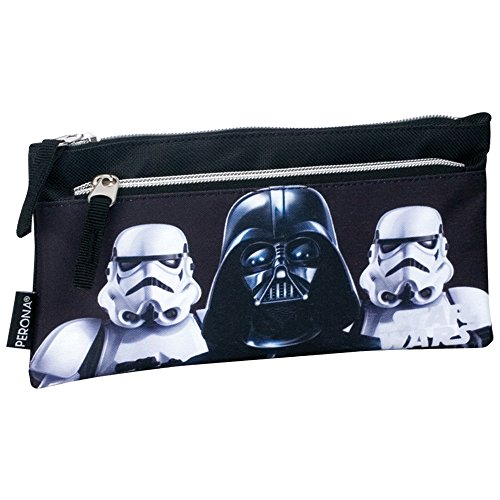 Star Wars Darth Vader and Stormtrooper Shadow Double Pouch Pencil Case (Black)