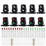 #8: Evemodel JTD21 10 Sets Target Faces with LEDs Railway Dwarf Signal HO OO Scale 2 Aspects