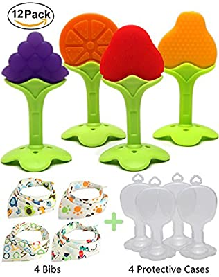 Kidsky Baby Teething Toys, Soft Silicone Natural FDA Approved BPA Free Fruit Teethers Set with Baby Bandana Drool Bibs for Toddlers & Infants. (Pack of 12) by Yishuiwenfeng Trading Co.,Ltd. that we recomend individually.