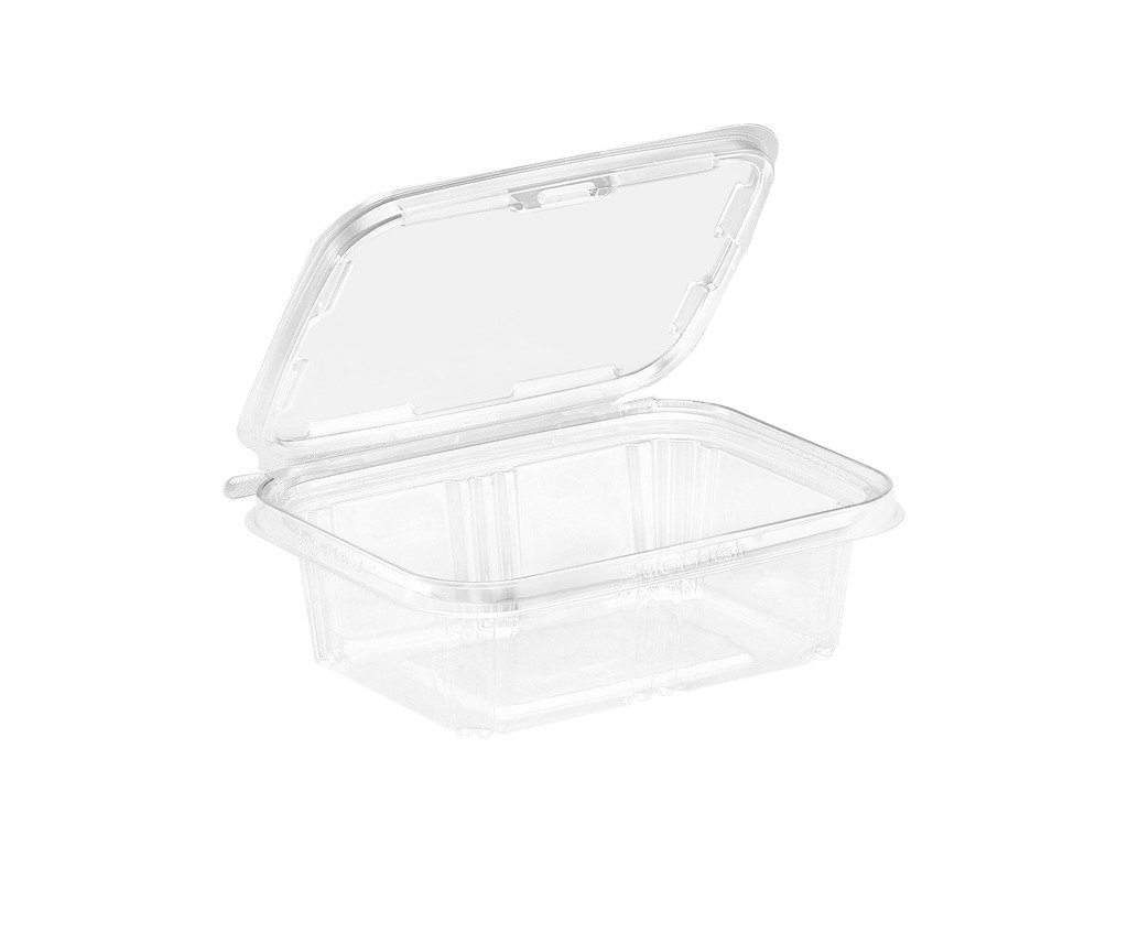 200 Pack To-Go Safe-T-Fresh Grab and Go Food Container, Tear Strip Lock, Perfect for Snacks, On the Go Snack Container, Delis, Restaurants, 7.3 x 5.6 x 2.31 Inches, by Inline Plastics Corporation