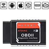 ATDIAG Car WIFI OBD2 Scanner, Wireless OBDII Vehicles Code Reader Scan Tool,OBD2 adapter Check Engine Diagnostic interface for iOS Apple iPhone iPad Andorid Windows (ATI2)