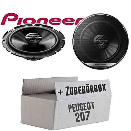 Einbauset f/ür Peugeot 207 Lautsprecher Boxen JBL 16cm System Auto Einbausatz JUST SOUND best choice for caraudio