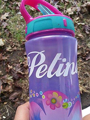 Targhetta adesiva personalizzabile con nome per borracce e bottiglie x 2 in vinile