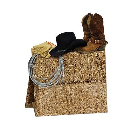 3-D Western Centerpiece Party Accessory (1 count) (1/Pkg) (Wild West Accessories)