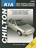 Total Car Care Kia Spectra/Sephia/Sportage S/E 1994-2010 Repair Manual (Chilton's Repair Manuals)