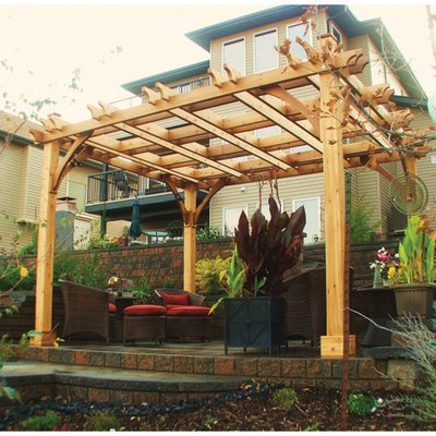 Western Red Cedar Arbor - Outdoor Living Today Breeze Western Red Cedar 12' x 12' Pergola