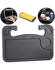 Homesprit Car Steering Wheel Desk, Laptop Or Notebook Car Travel Table, Food Eating On Steering Wheel Tray(Black)…