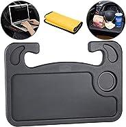 Homesprit Car Steering Wheel Desk, Laptop Or Notebook Car Travel Table, Food Eating On Steering Wheel Tray(Bla