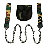 Harmony Life 40-Inch Survival Pocket Chain Saw With Pouch, Cuts Wood Fast, Hunting, Boy-scouts, Atv accessories, Emergency Gear, Back Yard Clean Up, pruning, Bug Out Bag, Hobbies,Makes Fire Easy