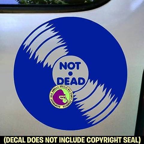 NOT DEAD Vinyl Record Vinyl Decal Sticker E (Dead Drum Player)