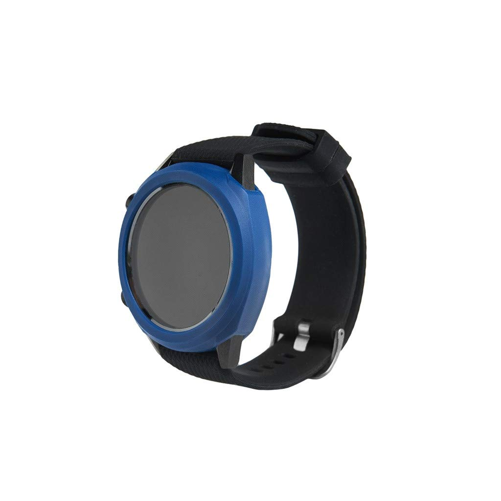 Pausseo TPU Durable Watch Cover Compatible for Huawei Watch GT Men Women Soft Ultra-Slim Silicone Protection Sports Replacement Comfortable Watch Case (Blue)