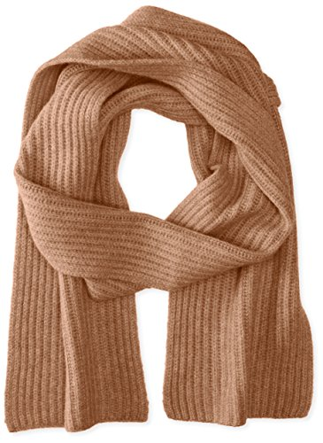 Williams Cashmere Men's Ribbed Scarf, Vicuna, ONE (Vicuna Cashmere)