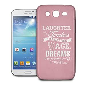 Phone Case For Samsung Galaxy Mega 5.8 I9152 - Pink Laughter is Timeless Walt Disney Quote Protective Hard