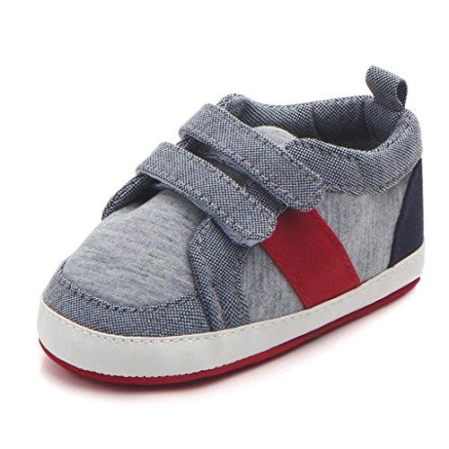 Clode® Neugeborene Kleinkind Baby Säuglings Mädchen Jungen weiche rutschfeste Sneaker Kleinkind Schuhe Grau