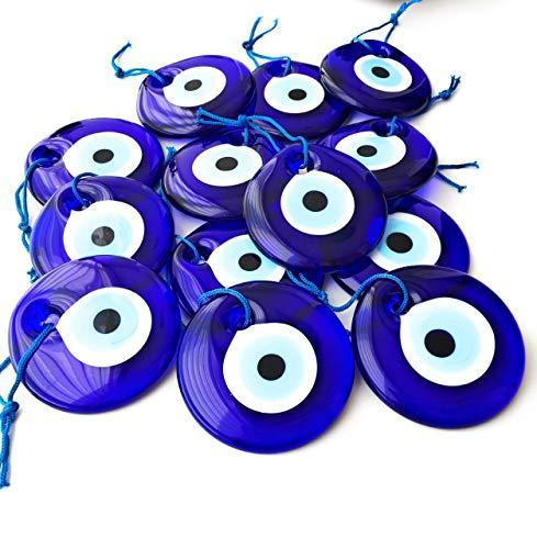 Bion, Evil Eye Beads, Talisman Charm (Blue Large - 2.75- 1 Piece)