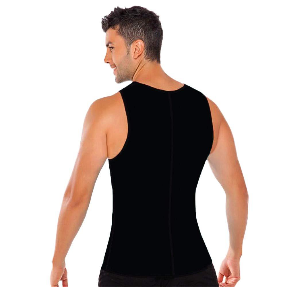 Faja Reductora Adelgazante Hombre Camisetas Compresiones Sin Mangas De Tirantes con Cremallera Multifuncional Tank Tops B/ásica Gimnasio Atl/ético