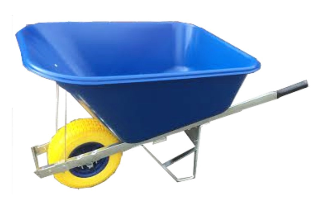 Pink with puncture proof tyre delivered fully assembled Wheelbarrow 120L