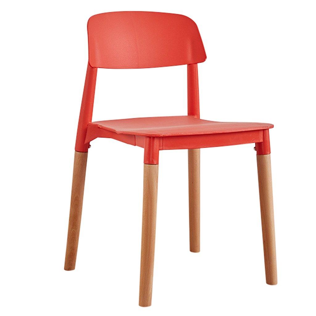 白いダイニングチェア、木製の脚防水プラスチックシートと背のキッチンオフィスビストロレストランカフェチェア (色 : Red, サイズ さいず : Set of 4) B07DFW1265 Set of 4 Red Red Set of 4