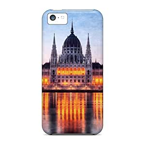 MMZ DIY PHONE CASEFashion Tpu Case For ipod touch 4- Awesome Government Building In Budapest At Dusk Defender Case Cover