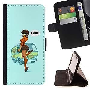 - Queen Pattern FOR Samsung Galaxy S5 V SM-G900 /La identificaci????n del cr????dito ranuras para tarjetas tir????n de la caja Cartera de cuero cubie - sexy pin up redhead girl wo