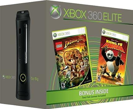 Amazon.com: Xbox 360 Elite Console 120GB With 2 Bonus Games: Video ...