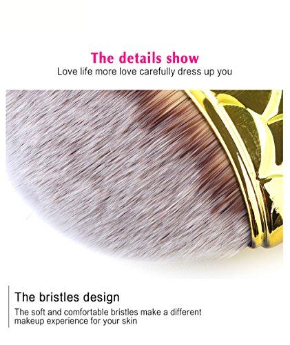 Mermaid Makeup Brushes Set MAANG 4pcs Ultra-soft Bristles Face Foundation Beauty Tools Blush Concealer Contouring Make Up Brush Kit