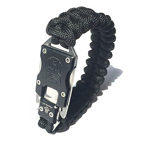 WEREWOLVES Survie en plein air Multi Fonctionnel EDC Tactique 7 Core Parachute Survie Corde Bracelet Avec Packet Couteau Autodéfense