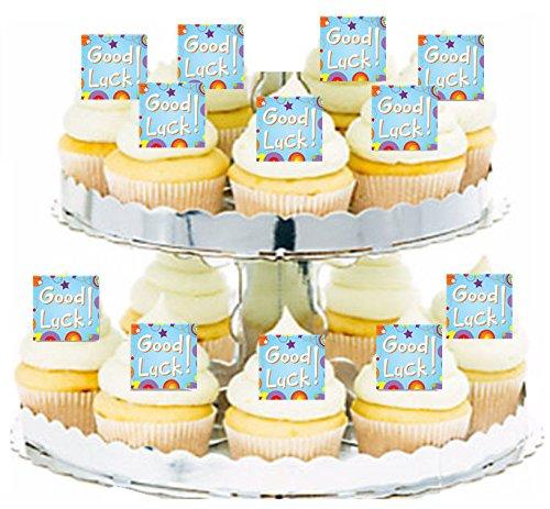 Good Luck blue Cupcake / Food / Appetizer Decoration Topper Picks - 12pk Good Luck Cookie