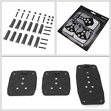 Gold Chrome w//Black Carbon Fiber Trim UrMarketOutlet NRG PDL-400CG Brake//Gas//Clutch Manual MT Sport Race Foot Pedal Plates Cover Set