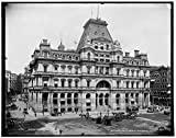 Vintography 40 x 30 Ready to Hang Canvas Wrap Boston Post Office 1900 Detriot Publishing 11a