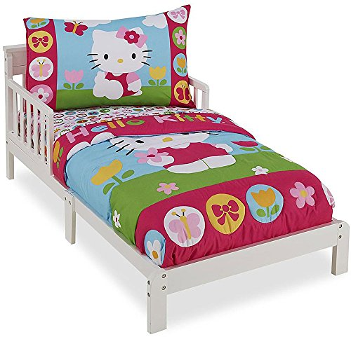 - Hello Kitty 4 Piece Toddler Bedding Set